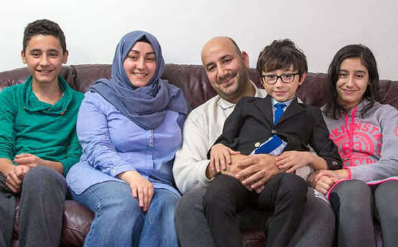 A family of new Canadians