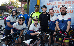 Group of Beau's Bike Ride Cyclists