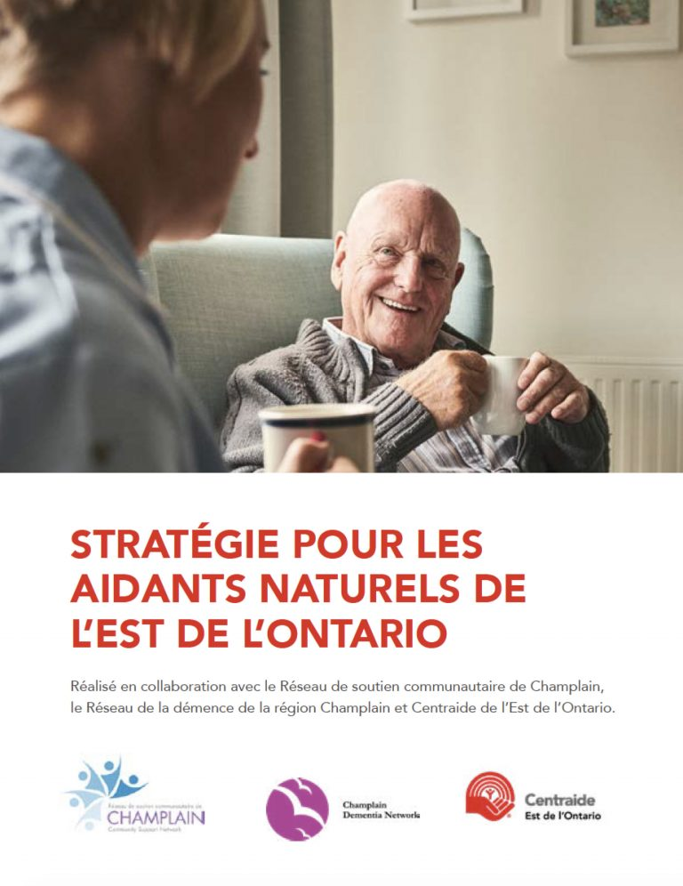United Way East Ontario Caregiver Strategy French Cover
